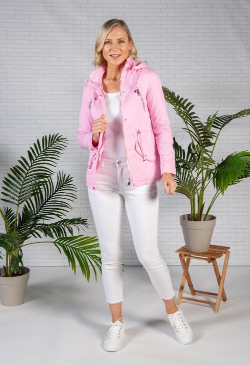 Pamela Scott Candy Pink Drawstring Waist Jacket