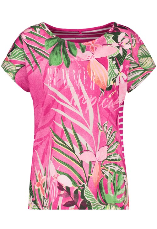 Gerry Weber Printed floral top in organic cotton