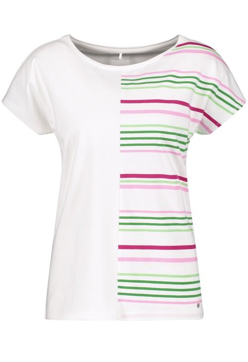 Gerry Weber Organic cotton top with a striped appliqué