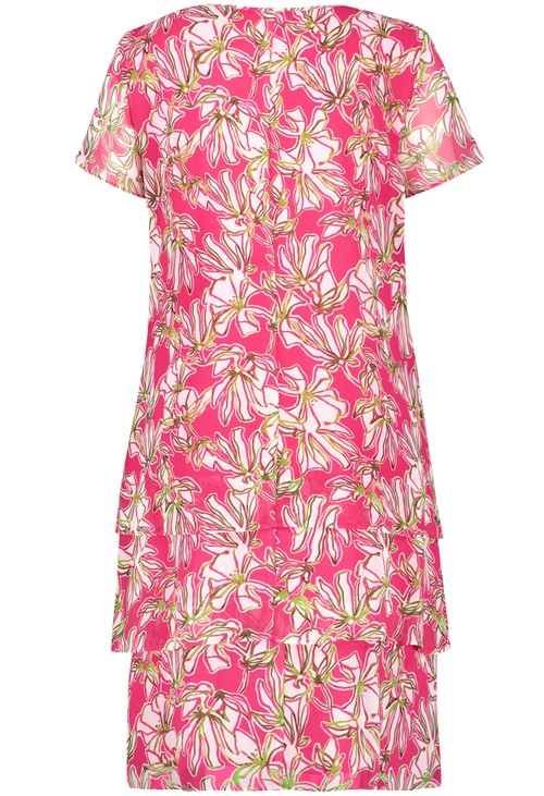 Gerry Weber PINK tiered floral print dress