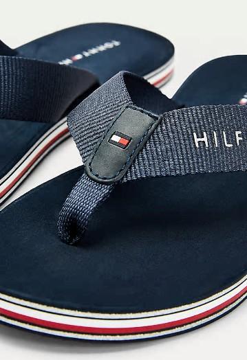Tommy Hilfiger SIGNATURE SOLE FLIP-FLOPS IN NAVY
