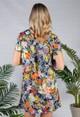 Pamela Scott Navy Hawaiian Print dress