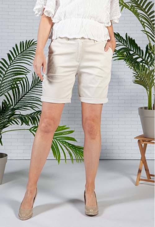 Sophie B Sand Comfort Stretch Shorts