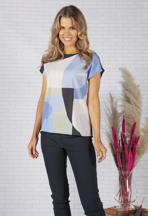 Opus Shirt with print Safeda shapes
