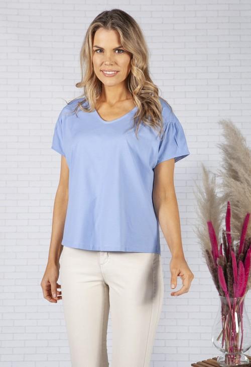 Opus Oversized shirt Samine in Sky Blue