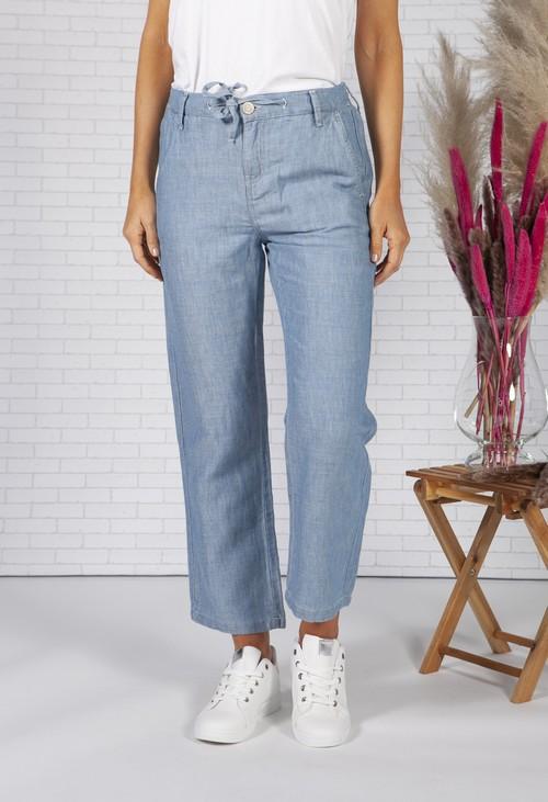 Opus Linen trousers Mitzi cargo