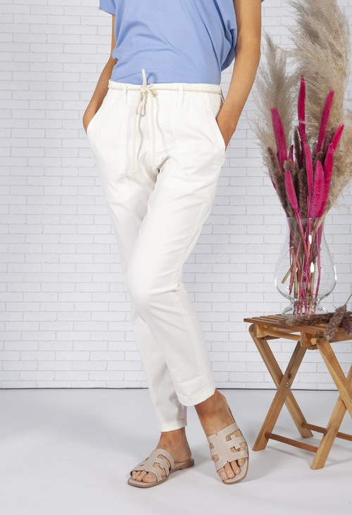 Opus White Melia Cargo Pants