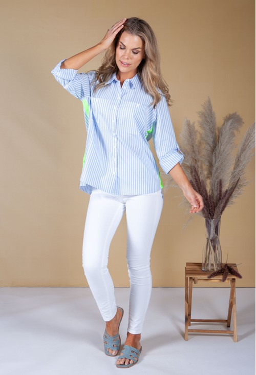 Twist Relaxed Fit Shirt with Luminous Side Stripe