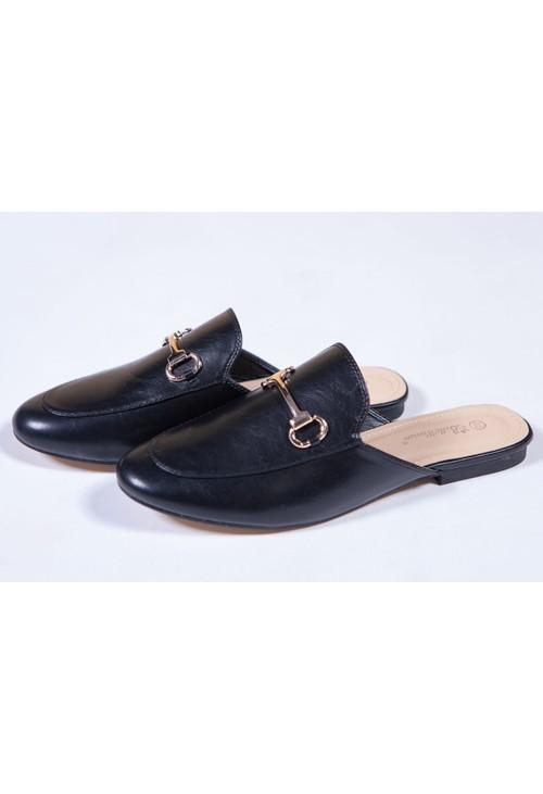 Shoe Lounge BLACK APRON FRONT SLIDE