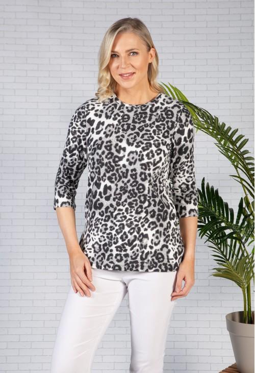 Bicalla Neutral Leopard Print Top