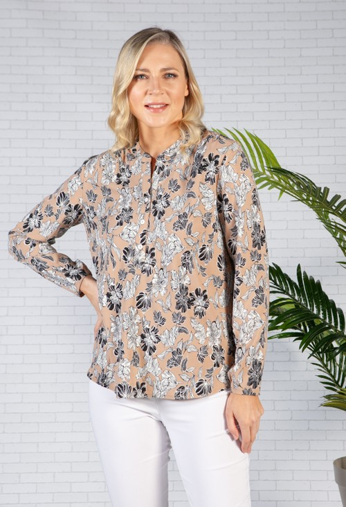 Bicalla Toffee Floral Blouse