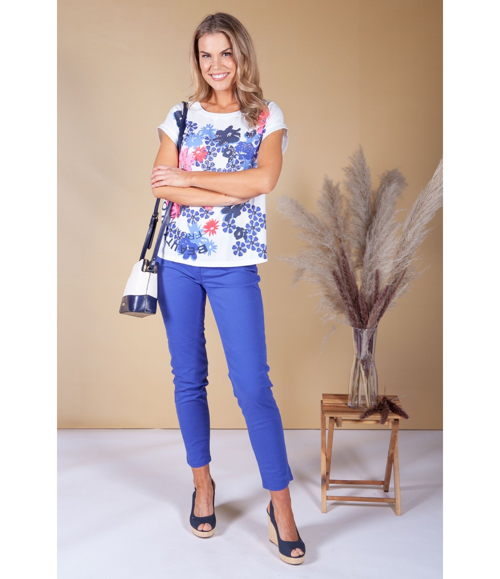 Betty Barclay White Pop Floral Print Top