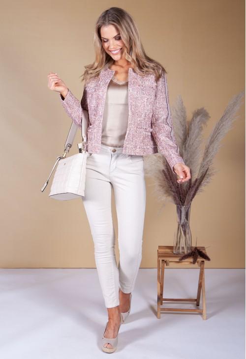 Betty Barclay Tweed Pink Jacket