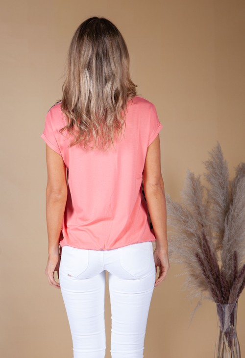 Betty Barclay Wild Print Top in Coral