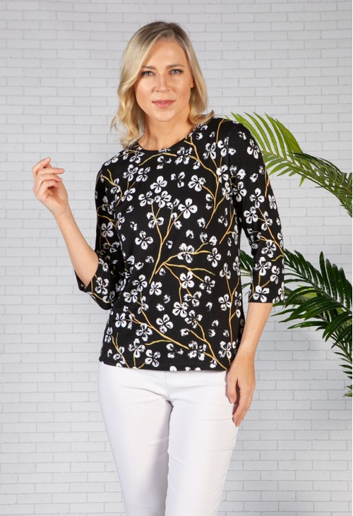 Bicalla White Printed Flowers Top