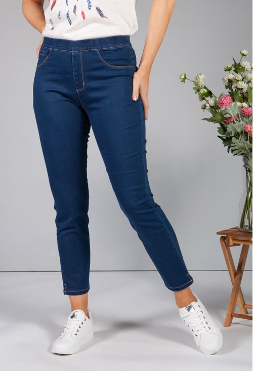 Twist Deep Denim Pull Up Jeans