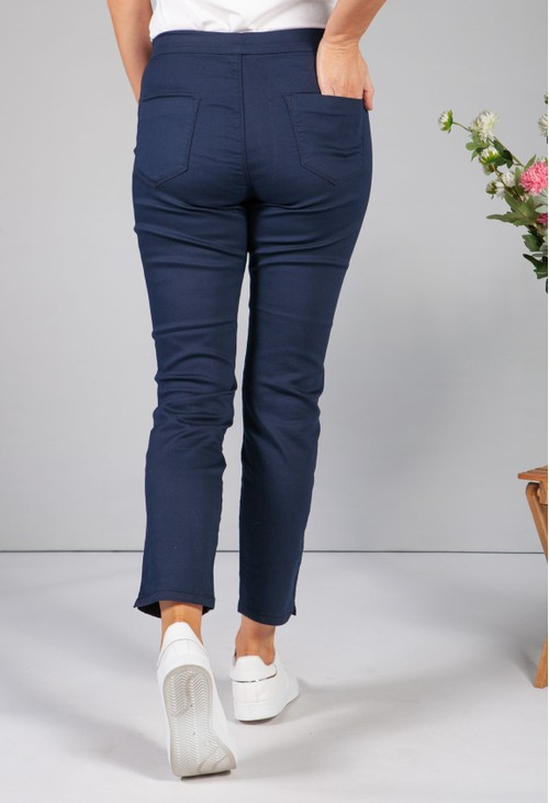 Twist Navy Pull Up Jeans