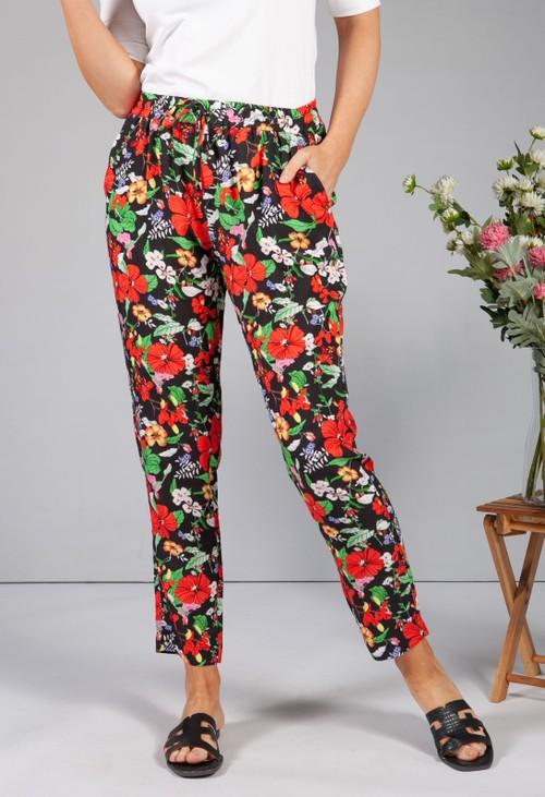 Sophie B Hawaiian Floral Print Trousers
