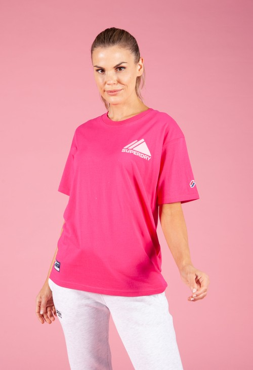 Superdry Mountain Sport Mono Mini T-Shirt in Hot Pink
