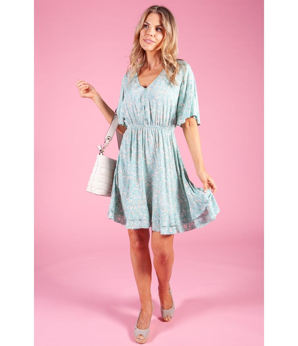 Pamela Scott Sage Floral Dress