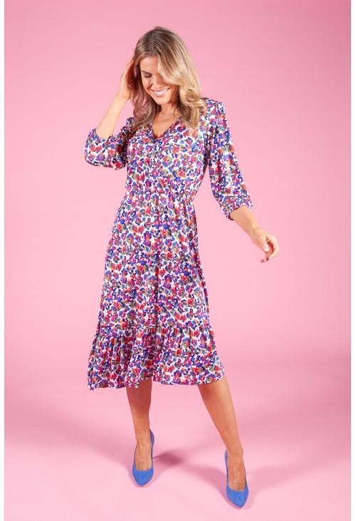Zapara Floral Bud Print Dress