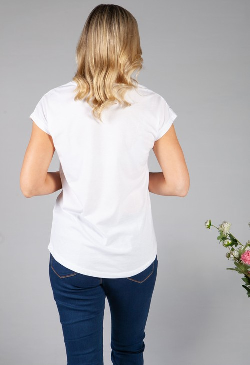 Twist Floral Print and Diamante Detail Top