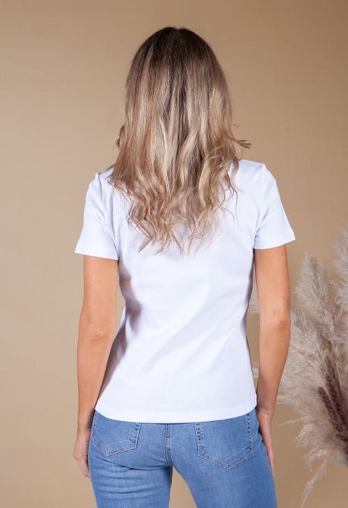 Twist White T-Shirt with Polo Logo