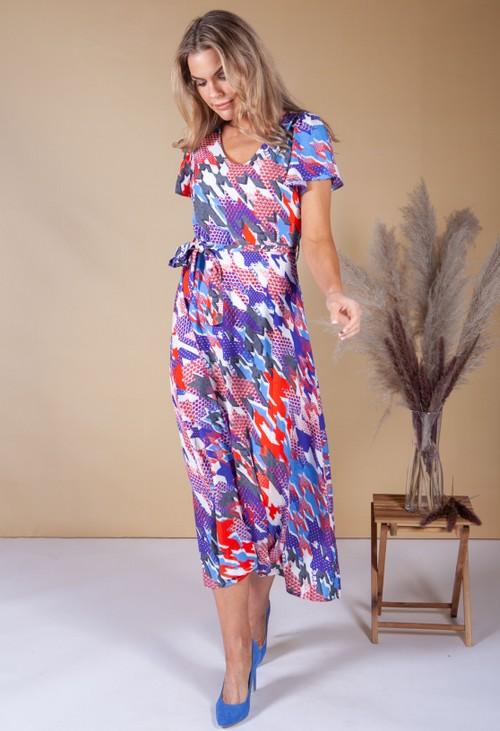 Zapara Abstract Star Print Dress