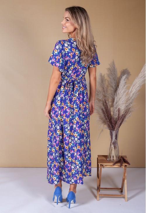 Zapara Violet Digital Floral Print Dress