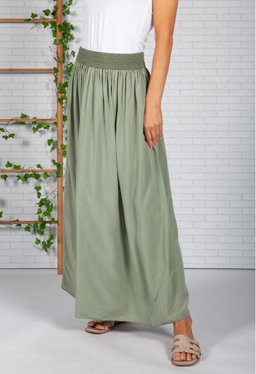 Zapara Khaki Maxi Skirt
