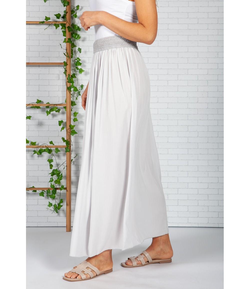 Zapara Soft Grey Maxi Skirt