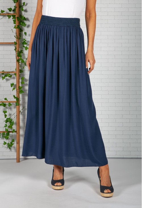 Zapara Navy Maxi Skirt
