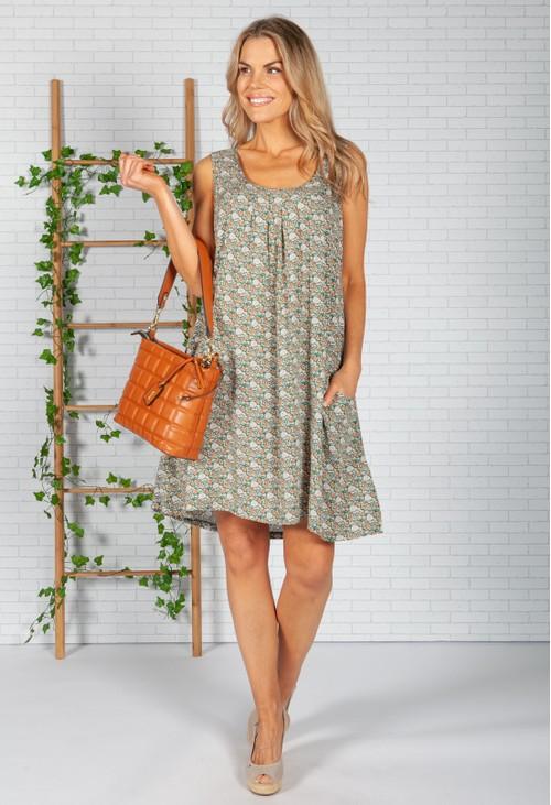 Pamela Scott Orange Blossom Dress in Green