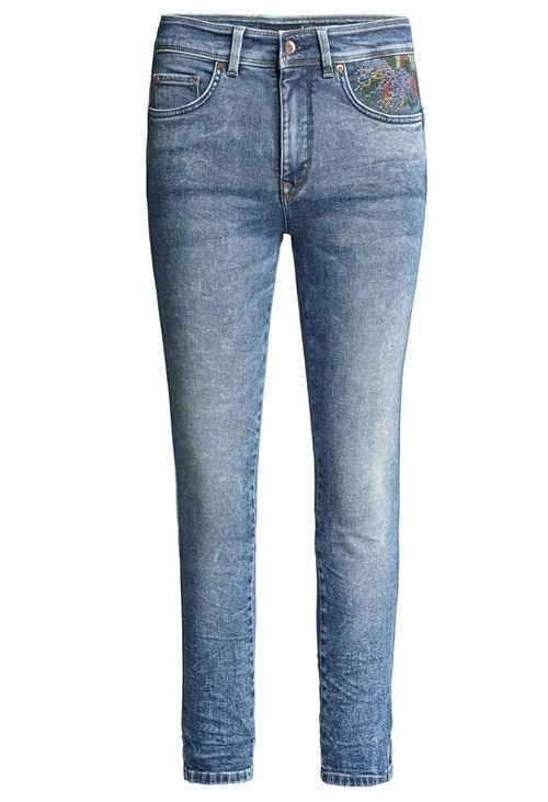 Salsa Jeans PUSH IN SECRET GLAMOUR CAPRI JEANS WITH EMBROIDERED DETAILS