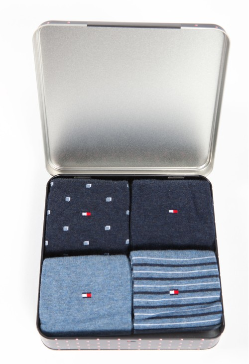 Tommy Hilfiger 4-PACK STRETCH COTTON SOCKS IN NAVY