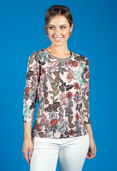Betty Barclay FLORAL PRINT TOP IN PINK