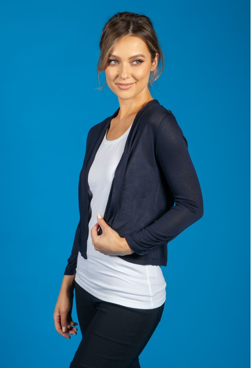 Betty Barclay OPEN FRONT CARDIGAN IN NAVY