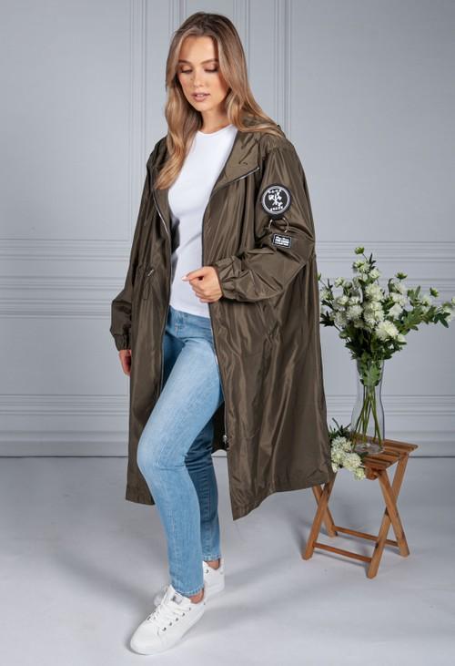 Pamela Scott Midi Summer Jacket in Khaki