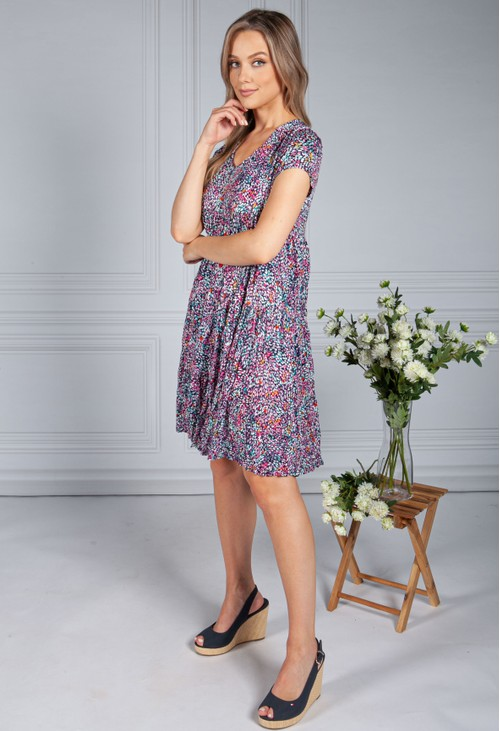 Sophie B Multicolour Tiered Dress