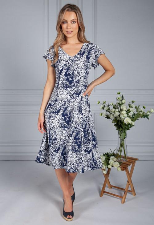 Pamela Scott Textured Floral Dress