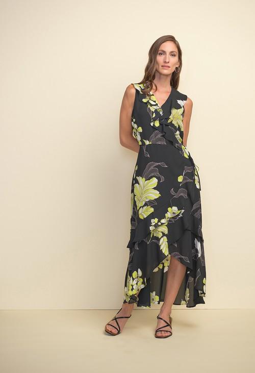 Joseph Ribkoff Ruffled Floral Dress