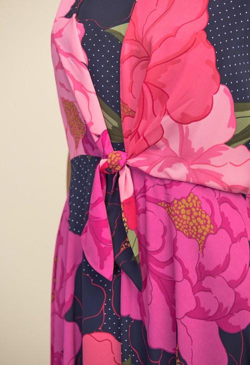 Joseph Ribkoff Floral & Polka Dot Dress