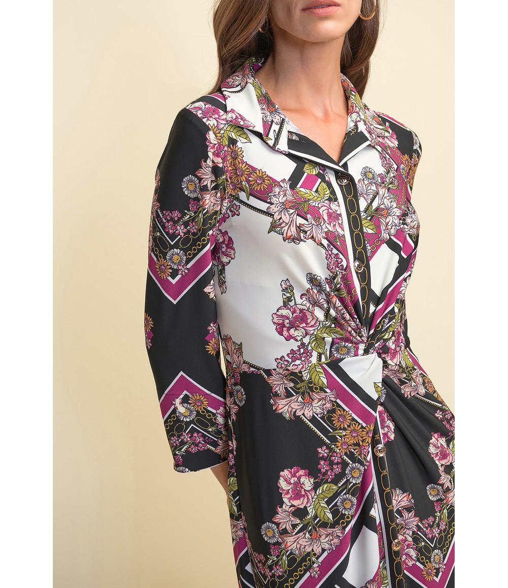 Joseph Ribkoff Printed Button-up Dress