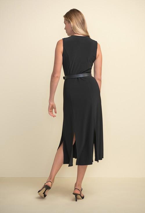 Joseph Ribkoff Sleeveless Belted Dress