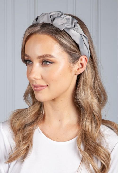 PS Accessories Soft Grey Ruffle Headband