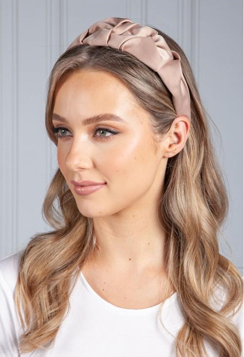 PS Accessories Taupe Ruffle Headband