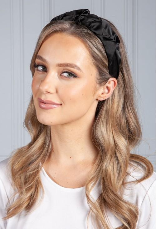 PS Accessories Black Ruffle Headband