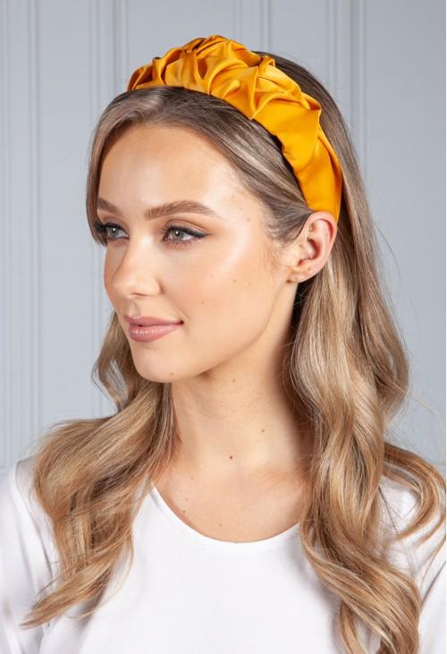 PS Accessories Sunburnt Yellow Ruffle Headband