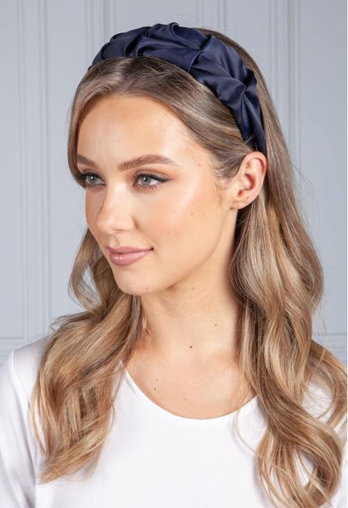 PS Accessories Navy Ruffle Headband