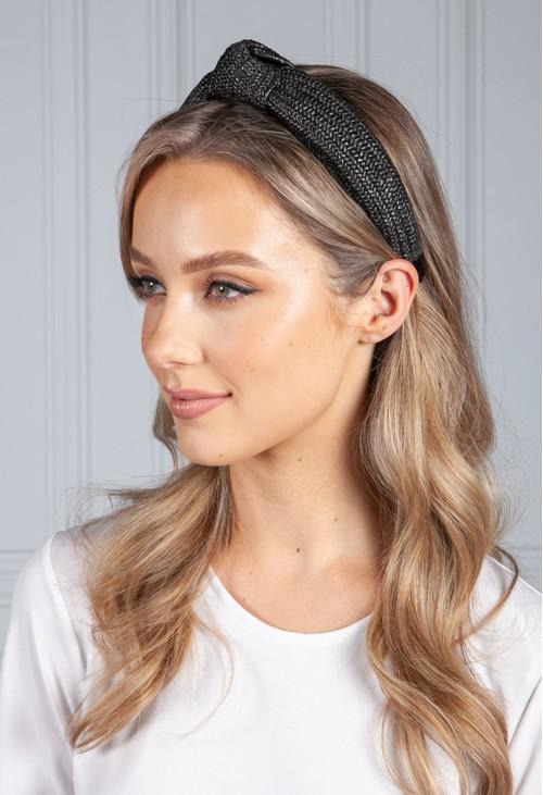 PS Accessories Black Wicker Headband